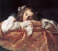 Sleeping Girl Baroque figures Domenico Fetti